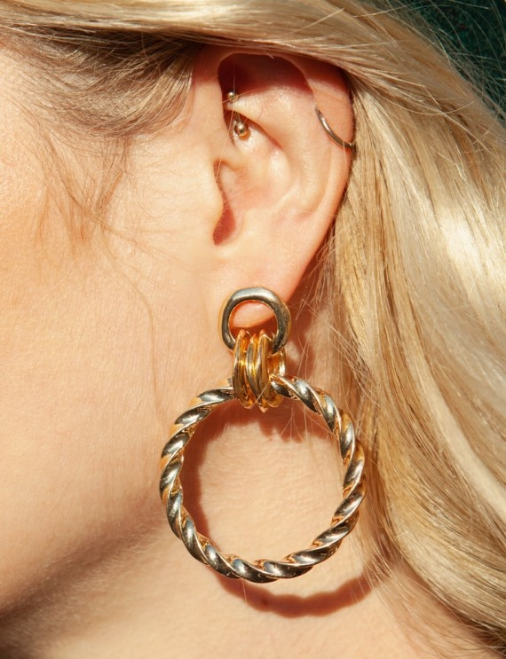 Boucles d'oreilles dorées Ola