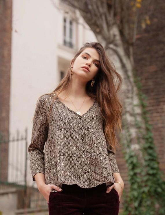 Sixtine black blouse