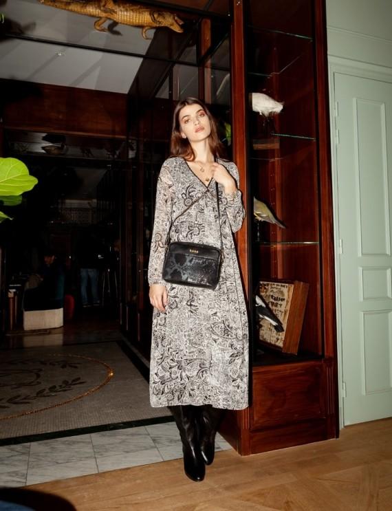 Robe longue noire Lisanne