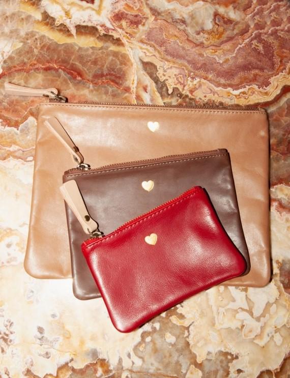 Trio multicoloured leather handbags