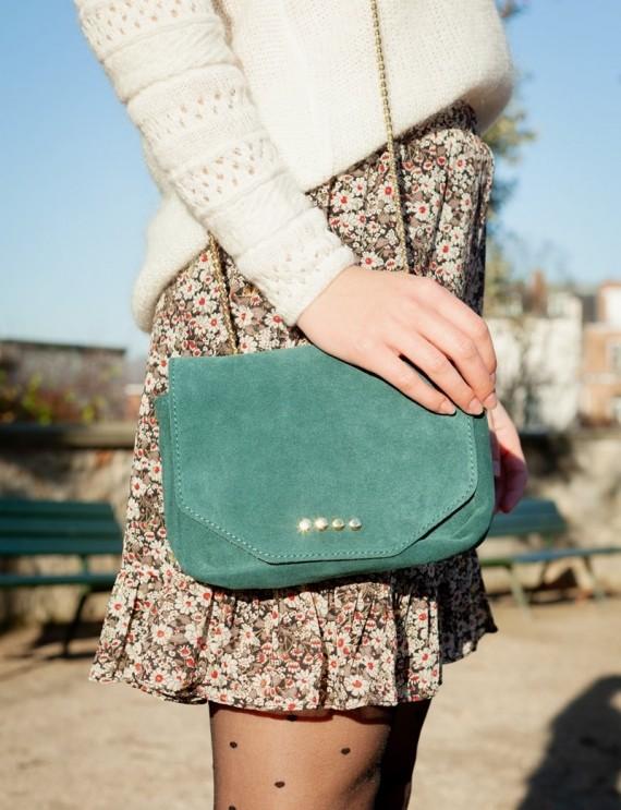 Adonis turquoise green bag