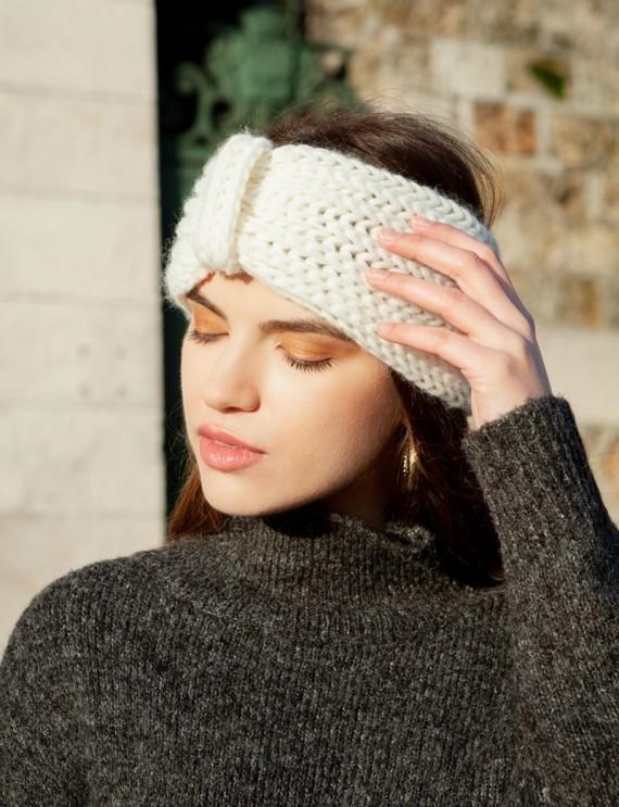 Headband blanc