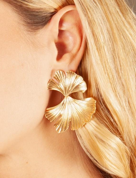 Boucles d'oreilles dorées Samra