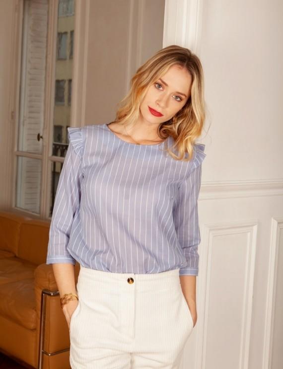 Blouse bleue Eleanor