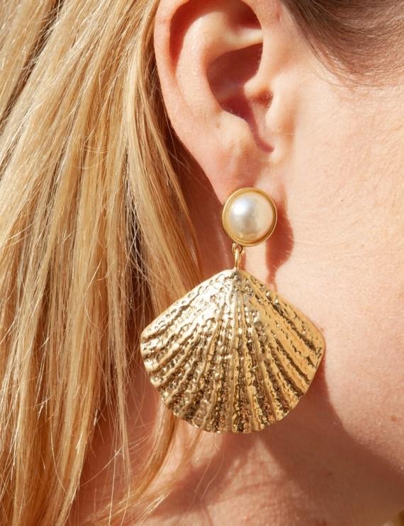 Boucles d'oreilles dorées Christy