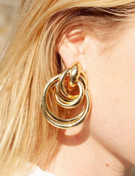Boucles d'oreilles dorées Loli