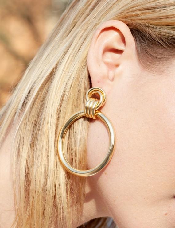 Boucles d'oreilles dorées Lya