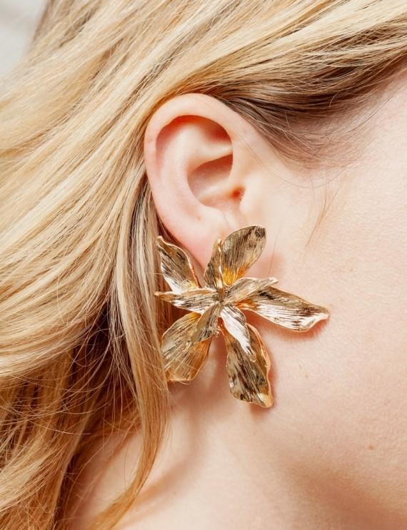 Boucles d'oreilles dorées Saona