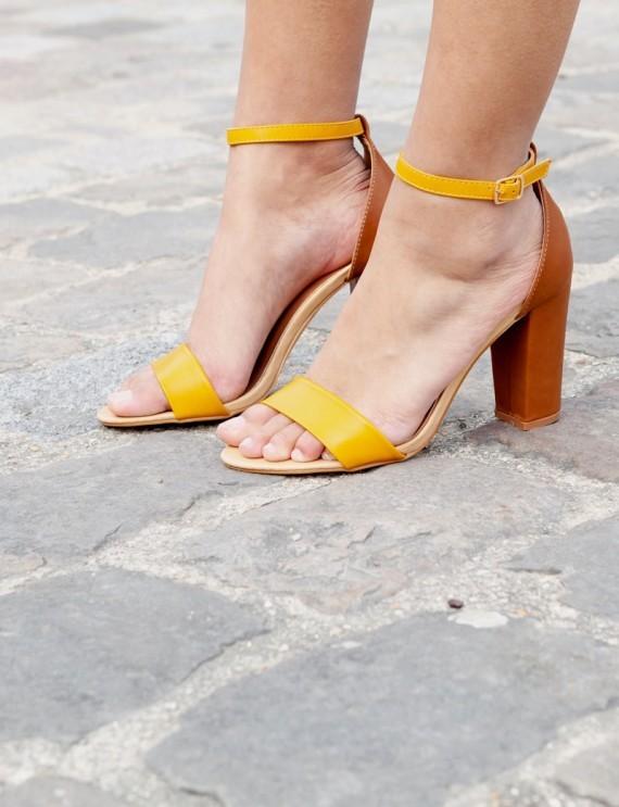 Sandales camel Aimie