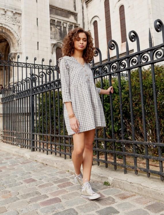 Lexine gingham dress
