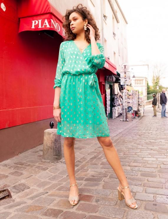 Robe turquoise Carmen