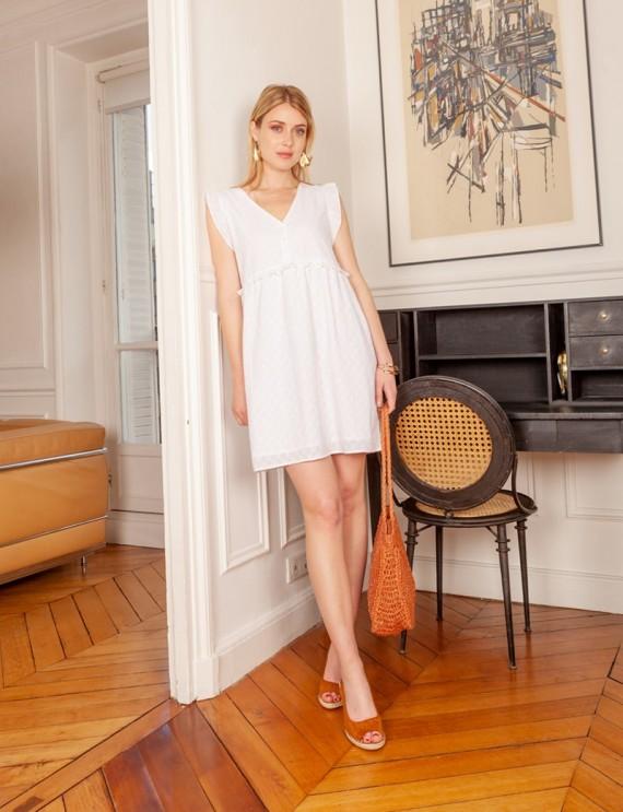 Robe blanche Nolwenn