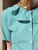 Chemise à motifs vichy Albane