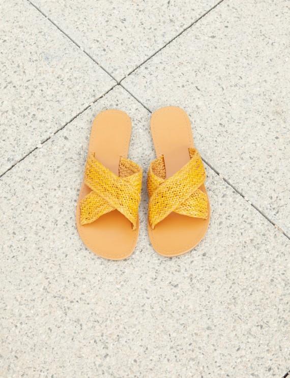 Ella yellow mules