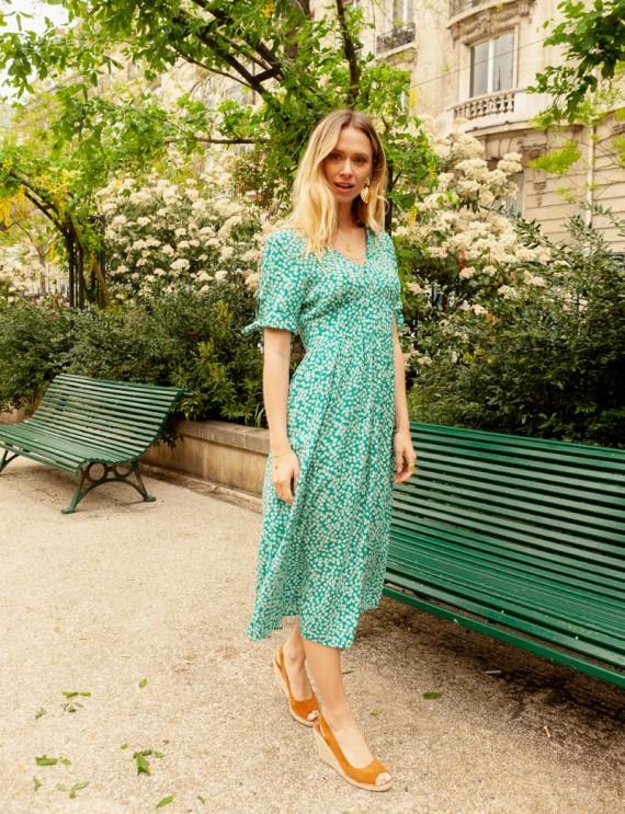 Adriane green dress