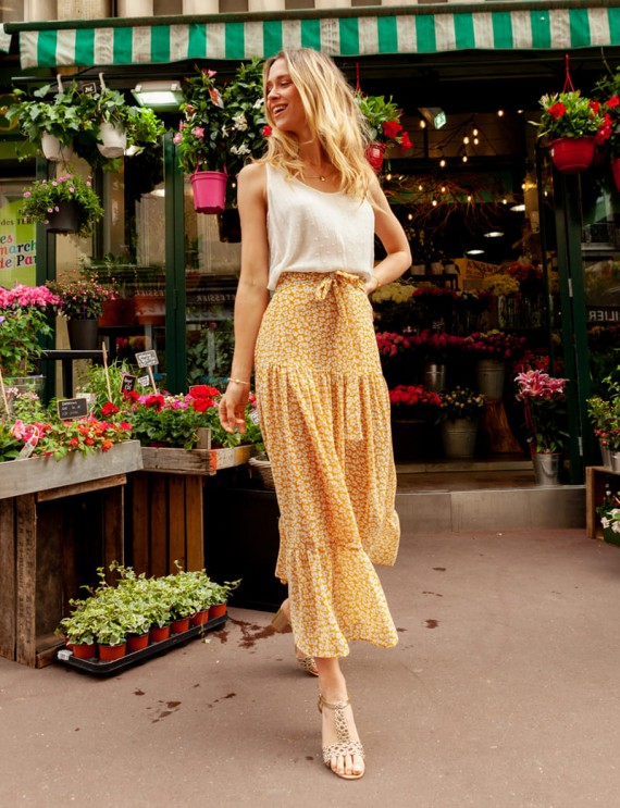 Annabelle yellow skirt