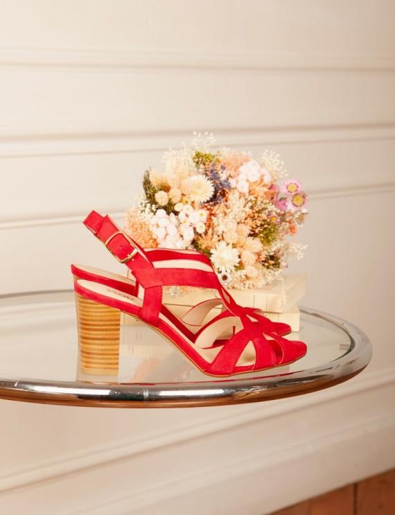 Rina raspberry sandals
