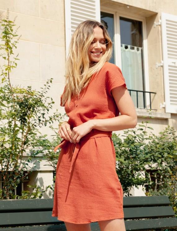 Mathilda terracotta dress