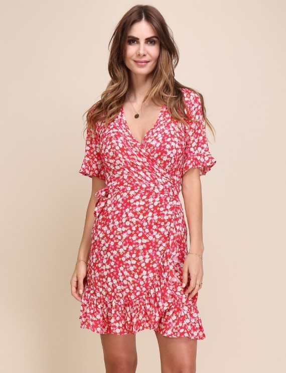 Mina raspberry pink dress