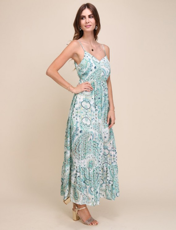 Auriane green dress