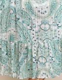 Robe verte cachemire Auriane