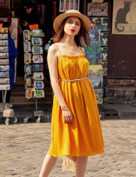 Robe moutarde Maryne