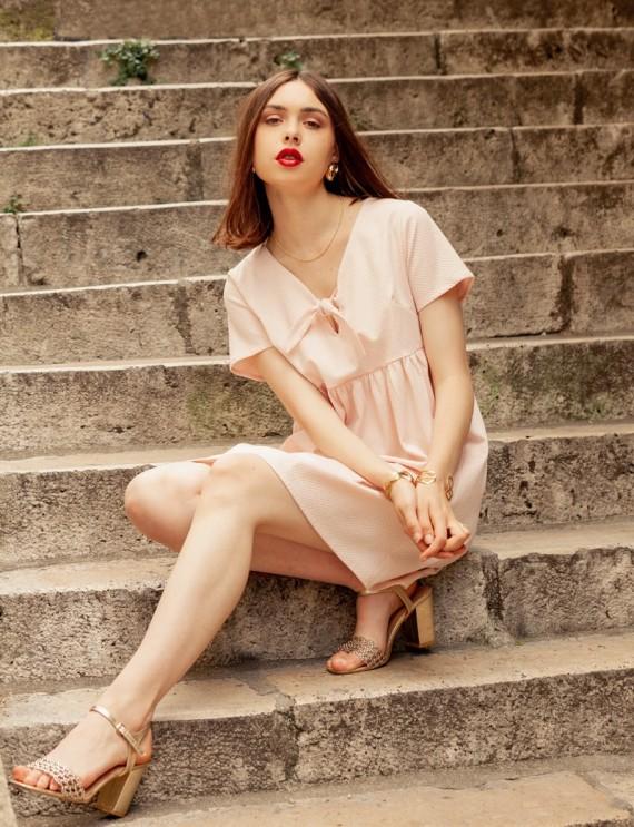 Robe rose poudré Joella