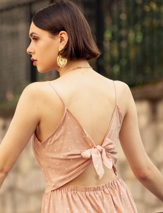 Robe rose Isalie