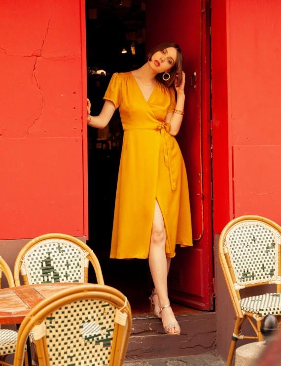 Robe jaune safran Manola