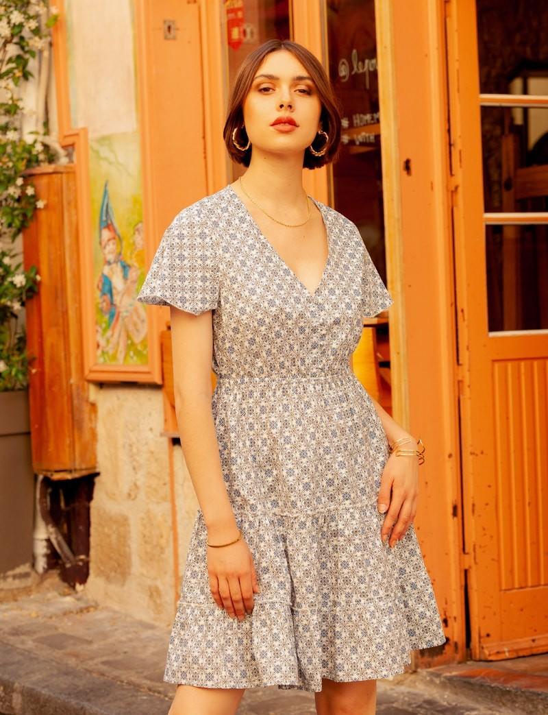 Robe bleue Gina