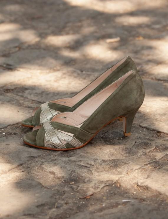Escarpins kaki Samos