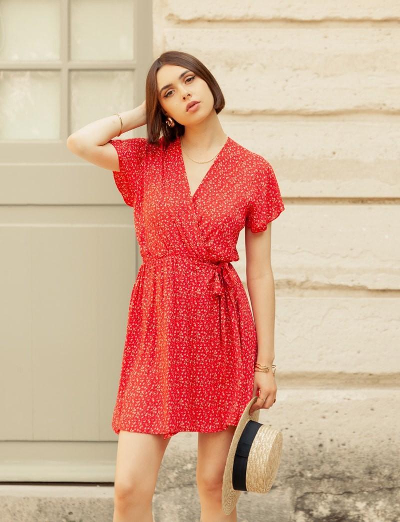 Robe rouge Tissia