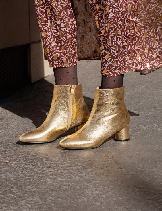 Francoise gold boots