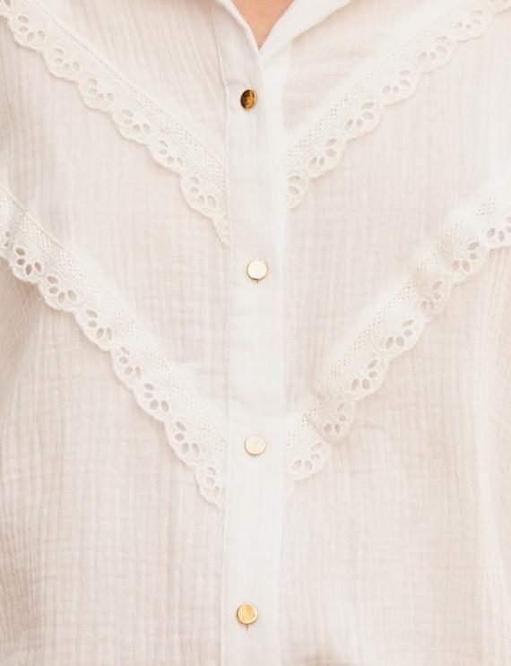 Zoom chemise blanche Elora